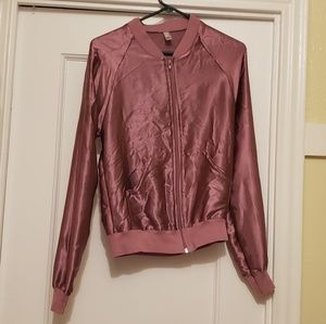 American Apparel satin pink jacket XS